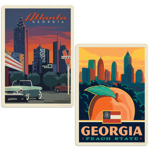ADG 2 Decal Set Wholesale - US Cities Georgia