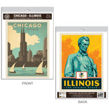 Chicago Illinois Windy City Decal Set of 2