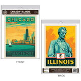 Chicago Illinois Lakefront Decal Set of 2