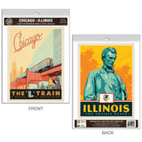 Chicago Illinois L Train Decal Set of 2