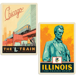 ADG 2 Decal Set Wholesale - US Cities Illinois 4