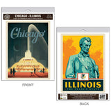 Chicago Illinois Buckingham Fountain Decal Set of 2