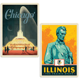 ADG 2 Decal Set Wholesale - US Cities Illinois 5