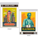 Chicago Illinois Hot Dog Decal Set of 2