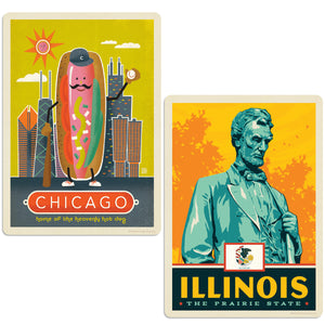 ADG 2 Decal Set Wholesale - US Cities Illinois 6