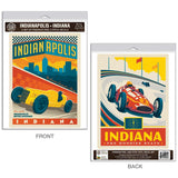 Indianapolis Motor Speedway Indiana Decal Set of 2