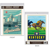 Louisville Kentucky Bluegrass State Decal Set of 2