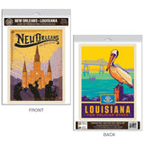 New Orleans Louisiana Big Easy Decal Set of 2