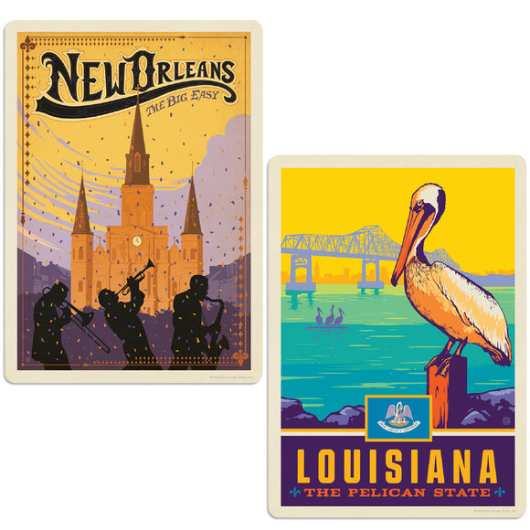 ADG 2 Decal Set Wholesale - US Cities Louisiana