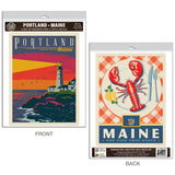 Maine Portland Head Lighthouse Decal Set of 2