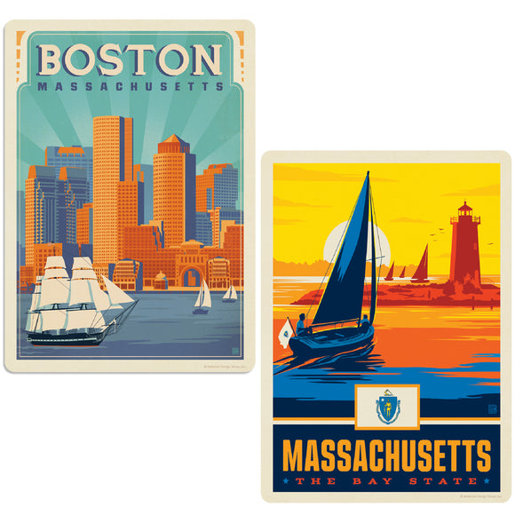 ADG 2 Decal Set Wholesale - US Cities Massachusetts 2