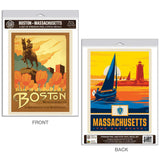 Boston Massachusetts Paul Revere Statue Decal Set of 2