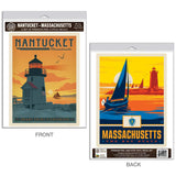 Nantucket Massachusetts Brant Point Light Decal Set of 2