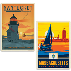ADG 2 Decal Set Wholesale - US Cities Massachusetts 5