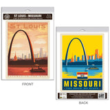 St. Louis Missouri Arch Decal Set of 2