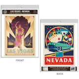 Las Vegas Nevada Silver State Showgirl Decal Set of 2