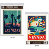Las Vegas Nevada City of Entertainment Decal Set of 2