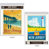 New Jersey Shoreline Decal Set of 2