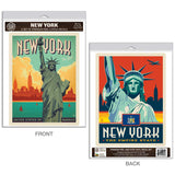 New York City Statue of Liberty Decal Set of 2