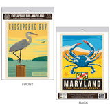 Chesapeake Bay Maryland Old Line State Decal Set of 2