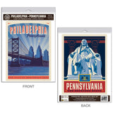 Philadelphia Pennsylvania Ben Franklin Decal Set of 2