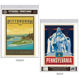 Pittsburgh Pennsylvania Ben Franklin Decal Set of 2
