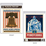 Philadelphia Pennsylvania Liberty Bell Decal Set of 2