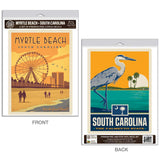Myrtle Beach South Carolina Grand Strand Decal Set of 2