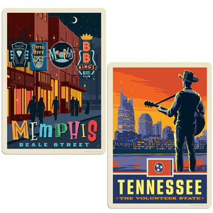 ADG 2 Decal Set Wholesale - US Cities Tennessee 1