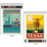 Austin Texas Congress Ave Bridge Decal Set of 2