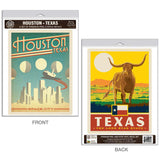 Houston Texas Space City Decal Set of 2