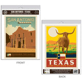 San Antonio Texas Alamo Decal Set of 2