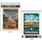 Williamsburg Virginia Monticello Decal Set of 2