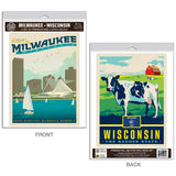 Milwaukee Wisconsin Harbor Decal Set of 2