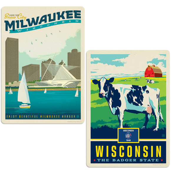 ADG 2 Decal Set Wholesale - US Cities Wisconsin 1