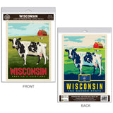 Wisconsin Dairyland Cows Decal Set of 2
