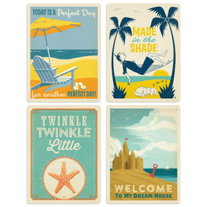 On the Beach Decal Set of 4