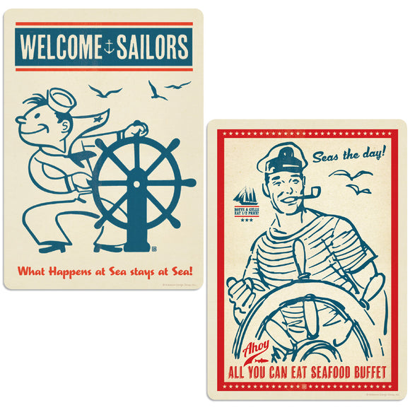 Welcome Sailors Boating Decal Set of 2