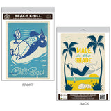 Beach Chill Penguin Decal Set of 2