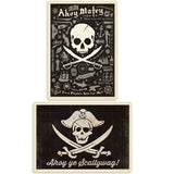 Ahoy Pirate Skulls Decal Set of 2