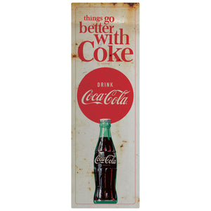 Things Go Better Coke Drink Coca-Cola Decal Set of 2 Distressed
