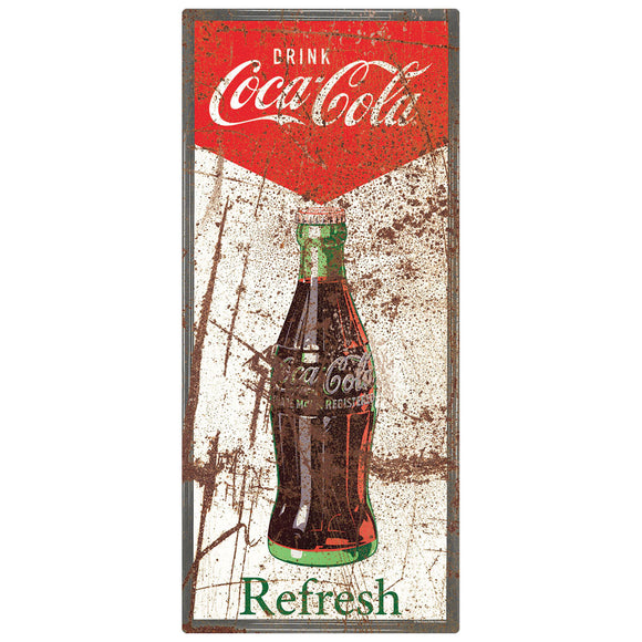 Drink Coca-Cola Refresh Chevron Decal Distressed