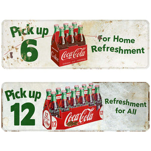 Pick Up 12 Coke Refreshment Decals Set of 2 Distressed