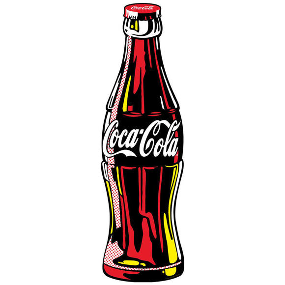 Coca-Cola Contour Bottle Pop Art Sticker