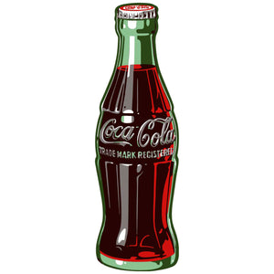 Coca-Cola 1950s Style Contour Bottle Sticker