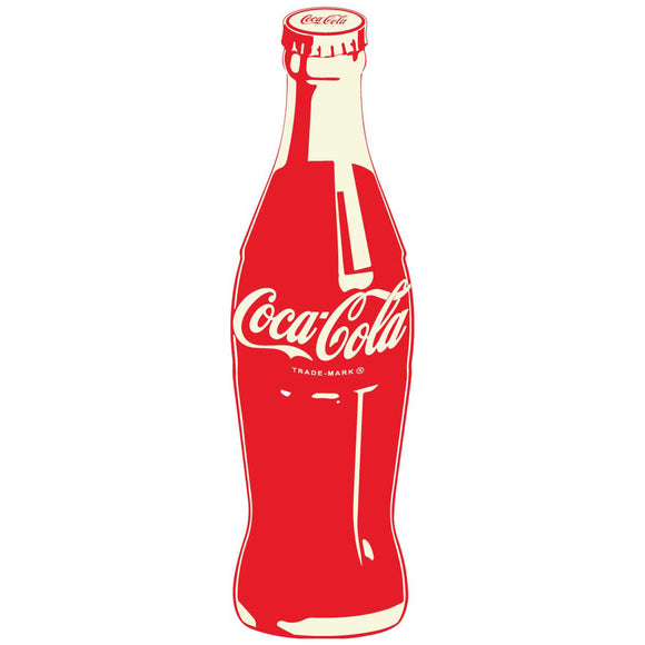 Coca-Cola Red Contrast Bottle Pop Art Sticker