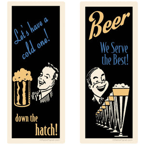 Beer Down the Hatch Decal Set of 2