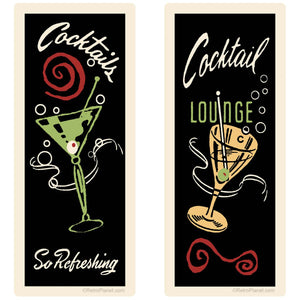 Cocktail Lounge Decal Set of 2
