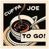 Cuppa Joe To Go Coffee Decal
