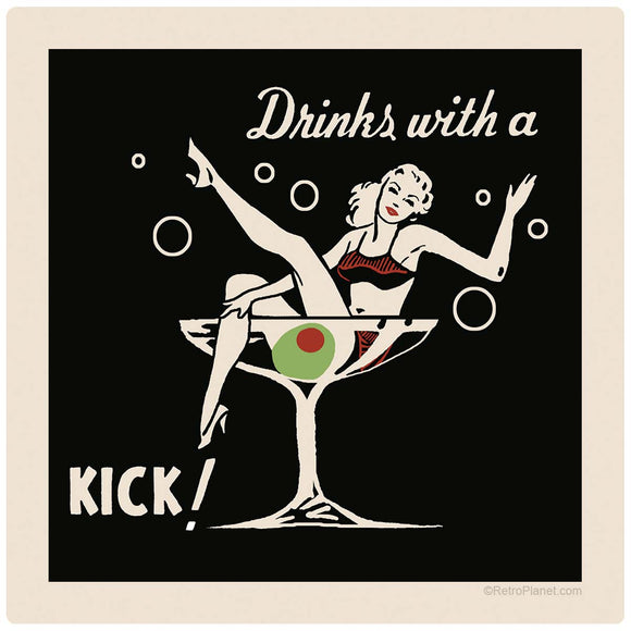 Drinks with a Kick Cocktail Decal